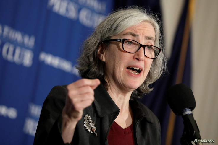Dr. Anne Schuchat, Principal Deputy Director of the Centers for Disease Control and Prevention (CDC), speaks during a news conference on the CDC's ongoing response to the coronavirus outbreak at the National Press Club in Washington, Feb. 11, 2020.