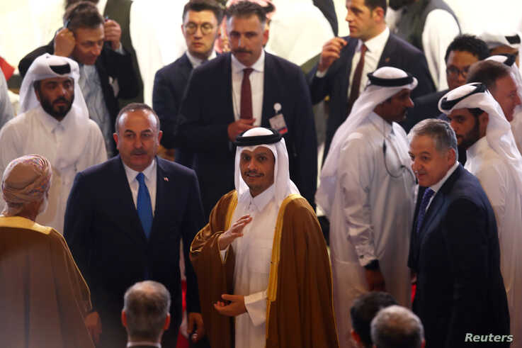 Qatari Deputy Prime Minister and Minister of Foreign Affairs Sheikh Mohammed bin Abdulrahman al-Thani and Turkish Foreign…