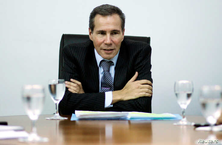 Late Argentine prosecutor Alberto Nisman speaks during a meeting with journalists in Buenos Aires, Argentina, May 29, 2013…