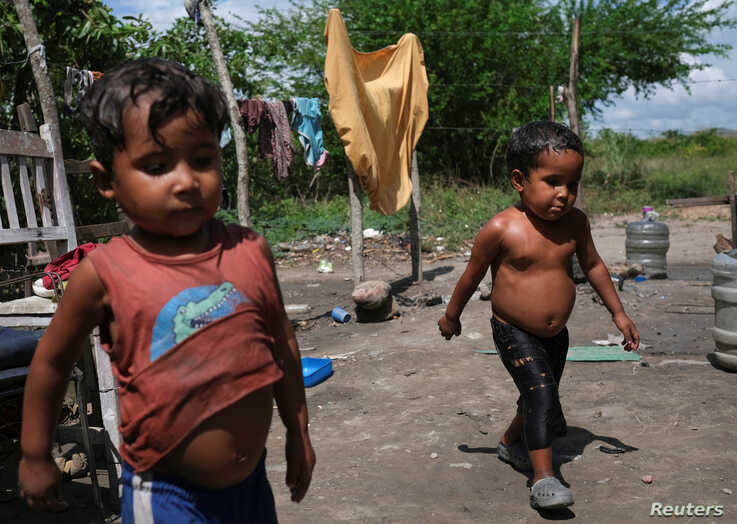 Pastor, 3, and Josue, 4, both of whom have been hospitalised in the past for malnutrition according to their mother Gregoria…