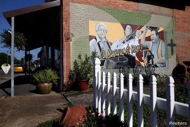 A mural is pictured in Basile amid a coronavirus disease (COVID-19) outbreak across the state of Louisiana, U.S., March 26,…