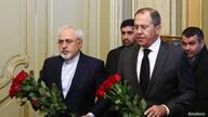 REUTERS Lavrov and Zarif lay flowers for murdered Russian ambassador
