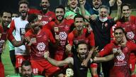 Persepolis, Iranian football team, players show their happiness after getting championship