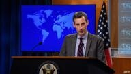 US State Department spokesman Ned Price speaks during daily press briefing at the State Department in Washington, DC, on…