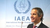 Director General of International Atomic Energy Agency, IAEA, Rafael Mariano Grossi from Argentina addresses the media during a…