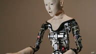 "The humanoid robot ""Alter"" is displayed at the National Museum of Emerging Science and Innovation in Tokyo, Monday, Aug. 1,…"