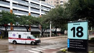 An ambulance drives through the Texas Medical Center Thursday, June 25, 2020, in Houston. The leaders of several Houston…