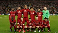 Liverpool team players pose prior to the start of a second leg, round of 16, Champions League soccer match between Liverpool…
