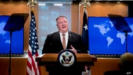 Secretary of State Mike Pompeo speaks during a news conference at the State Department in Washington, Wednesday, July 15, 2020…