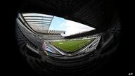 General view of St. James' Park in Newcastle, England, Sunday, July 26, 2020 before the English Premier League soccer match…