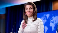 State Department spokesperson Morgan Ortagus speaks at a news conference at the State Department in Washington, Monday, June 17…