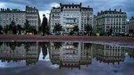 A man wearing a mask walks in the street in the center of Lyon, central France, Wednesday, Oct. 28, 2020. France is bracing for…