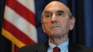 Elliot Abrams, U.S. special representative for Iran, talks during an interview with The Associated Press at the U.S. Embassy in…