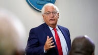U.S. Ambassador to Israel David Friedman speaks at a news conference in the James Brady Press Briefing Room at the White House,…