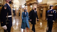 President-elect Joe Biden and his wife Jill arrive in the Crypt of the U.S. Capitol ahead of Joe Biden's inauguration Wednesday…