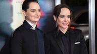 "FILE - Emma Portner, left, and Ellen Page arrive at the world premiere of ""Flatliners"" on Sept. 27, 2017, in Los Angeles. Page…"