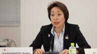 Minister for the Tokyo Olympic and Paralympic Games Seiko Hashimoto speaks during an on-line meeting focused on how to pull off…