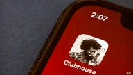 The icon for the social media app Clubhouse is seen on a smartphone screen in Beijing, Tuesday, Feb. 9, 2021. Clubhouse, an…
