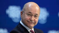 Iraq's President Barham Salih addresses the World Economic Forum in Davos, Switzerland, Wednesday, Jan. 22, 2020. The 50th…