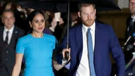 FILE - In this March 5, 2020, file photo, Britain's Prince Harry and Meghan, Duchess of Sussex, arrive at the annual Endeavour…