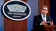 Pentagon spokesman John Kirby speaks during a media briefing at the Pentagon in Washington, Monday, May 3, 2021. (AP Photo…