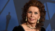 FILE - Sophia Loren arrives at the Governors Awards on Oct. 27, 2019 in Los Angeles. Loren turns 86 on Sept. 20. (Photo by…