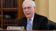 "Senate Minority Leader Mitch McConnell, R-Ky., speaks at a Senate Rules Committee markup to argue against the ""For the People…"