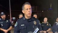 This photo provided by Austin Police Department shows Chief Chacon providing an update on overnight shootings in Austin, Texas,…