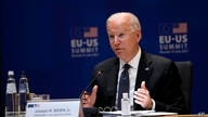 U.S. President Joe Biden speaks during the EU-US summit at the European Council building in Brussels, Tuesday, June 15, 2021. …