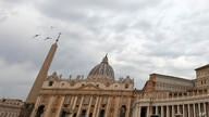 A view of St. Peter's Basilica at the Vatican, Tuesday, July 27, 2021. (AP Photo/Riccardo De Luca)
