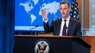 State Department spokesperson Ned Price speaks during a media briefing at the State Department, Wednesday, July 7, 2021, in…