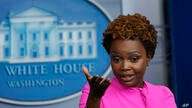 White House deputy press secretary Karine Jean-Pierre speaks during the daily briefing at the White House in Washington,…