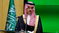 Saudi Foreign Minister Prince Faisal Bin Farhan Al Saud gives a joint press conference with his Pakistani counterpart Shah…