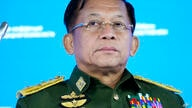 FILE - In this June 23, 2021, file photo, Commander-in-Chief of Myanmar's armed forces, Senior General Min Aung Hlaing delivers…