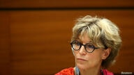 FILE PHOTO: Agnes Callamard, U.N. special rapporteur on extrajudicial executions takes part in a UN side event in Geneva
