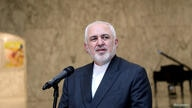 FILE PHOTO: Iran's Foreign Minister Mohammad Zarif speaks at the presidential palace in Baabda