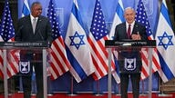 Israeli Prime Minister Benjamin Netanyahu and U.S. Secretary of Defense Lloyd Austin deliver joint statement after meeting at Netanyahu's office in Jerusalem
