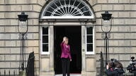 Scotland's First Minister Sturgeon arrives at Bute House, in Edinburgh
