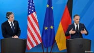 German Foreign Minister Heiko Maas and US Secretary of State Antony Blinken address a joint press conference in Berlin