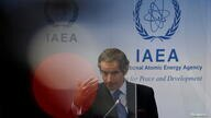 International Atomic Energy Agency Director General Grossi attends a news conference in Vienna
