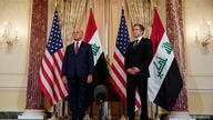 U.S. Secretary of State Blinken meets with Iraq's Foreign Minister Hussein at the State Department in Washington