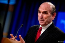 Special Representative for Venezuela Elliott Abrams speaks during a news conference at the State Department, in Washington, U.S…