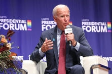 Democratic presidential candidate and former Vice President Joe Biden speaks at the One Iowa and GLAAD LGBTQ Presidential Forum…