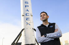 Inspiration4 mission commander Jared Isaacman, founder and chief executive officer of Shift4 Payments, stands for a portrait in…