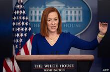 White House Press Secretary Jen Psaki speaks during a press briefing on March 3, 2021, in the Brady Briefing Room of the White…
