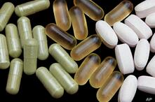 Herbal supplements, graphic element on black