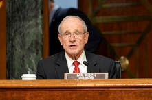 Senate Foreign Relations Committee Chairman Jim Risch, R-Idaho,) gives an opening statement during a Senate Foreign Relations…