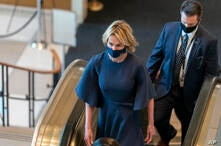American Ambassador to the United Nations Kelly Craft arrives for the ۷۵th session of the United Nations General Assembly,…