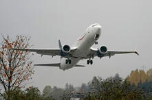 A Boeing 737 Max 9 built for Aeromexico takes off from Renton Municipal Airport, Wednesday, Nov. 18, 2020, in Renton, Wash…
