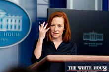 White House press secretary Jen Psaki speaks during a press briefing at the White House, Thursday, March 4, 2021, in Washington…